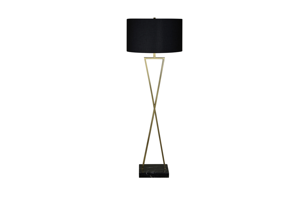 Black brass lamp